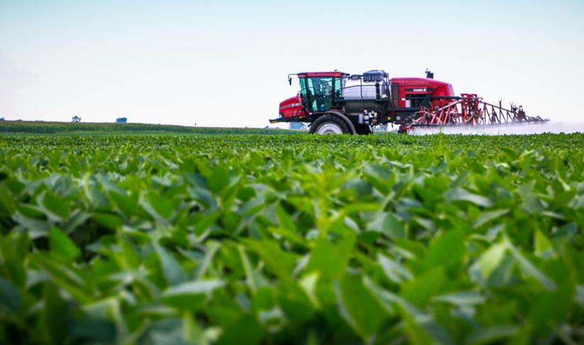 Photo of sprayer applying nutrients